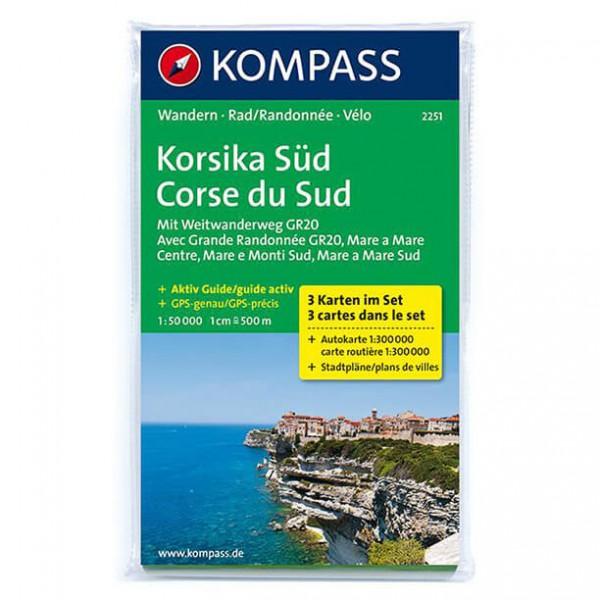 Kompass - Korsika Süd - Wanderkarte