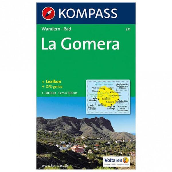 Kompass - La Gomera - Vandrekort
