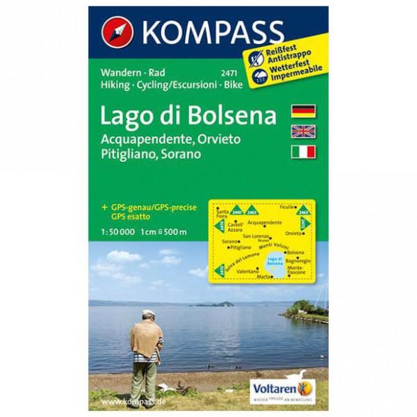 Kompass - Lago di Bolsena - Mapa de senderos