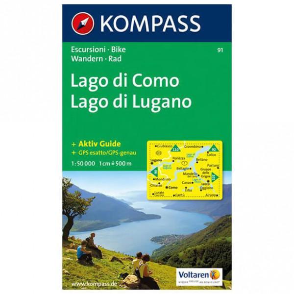 Kompass - Lago di Como /Lago di Lugano - Cartes de randonnée