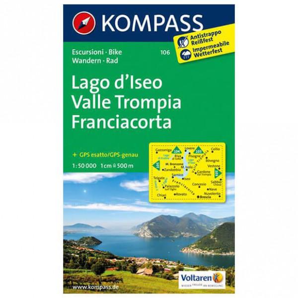 Kompass - Lago d'Iseo - Wanderkarte