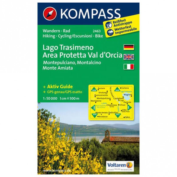 Kompass - Lago Trasimeno - Hiking Maps