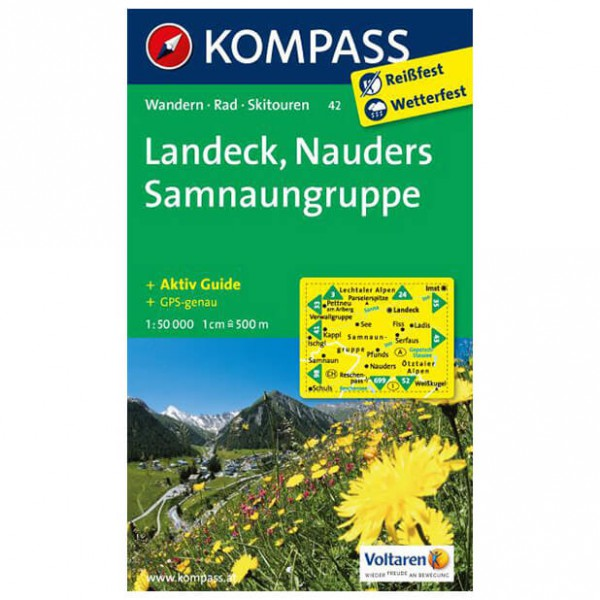 Kompass - Landeck - Cartes de randonnée