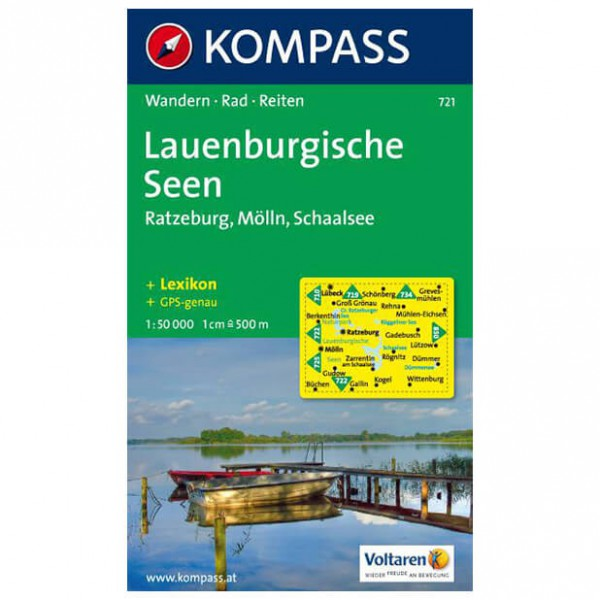 Kompass - Lauenburgische Seen - Hiking Maps