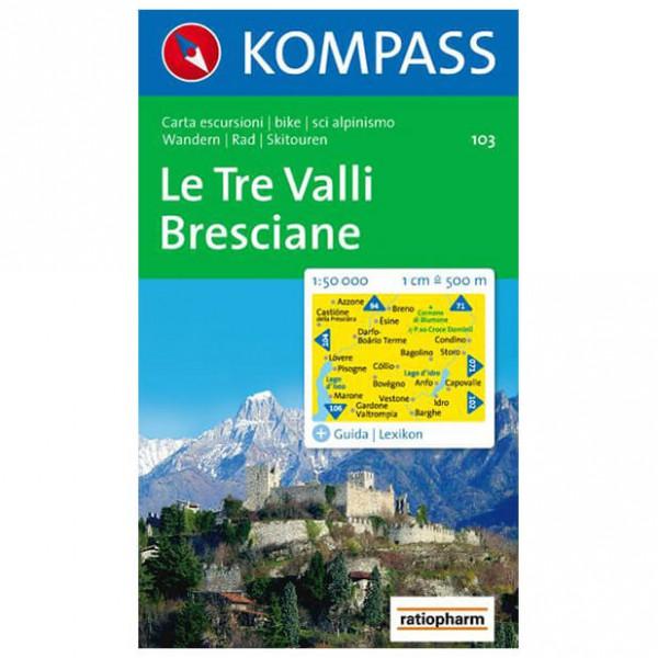Kompass - Le Tre Valli Bresciane - Wanderkarte