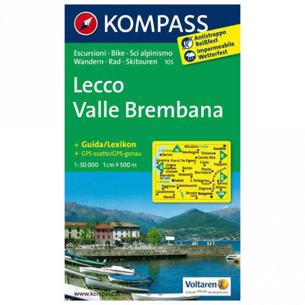 Kompass - Lecco /Valle Brembana - Vaelluskartat