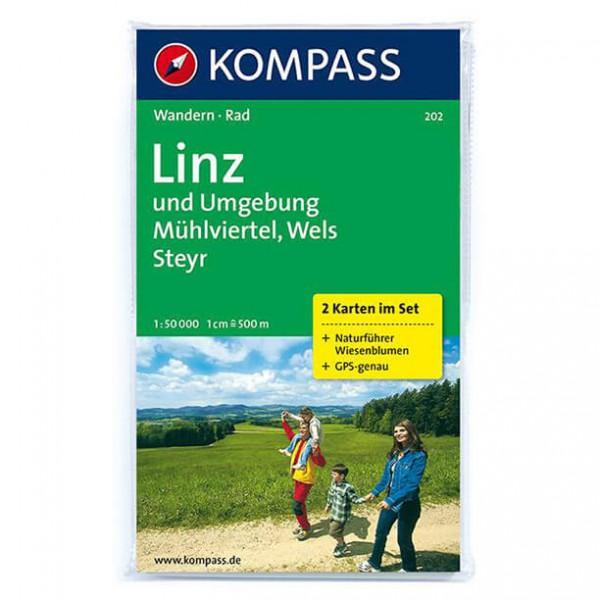 Kompass - Linz und Umgebung - Wandelkaart