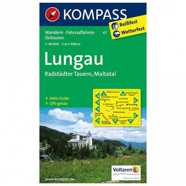 Kompass - Lungau - Wandelkaart