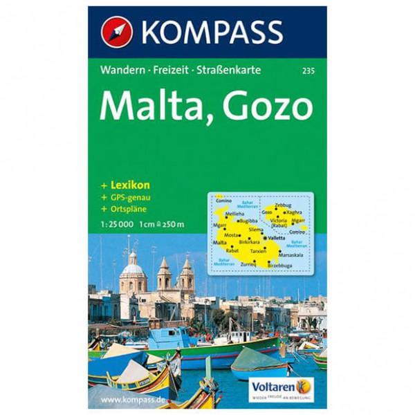 Kompass - Malta - Vandrekort