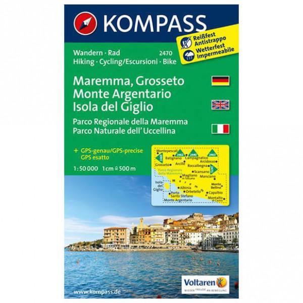 Kompass - Maremma - Cartes de randonnée