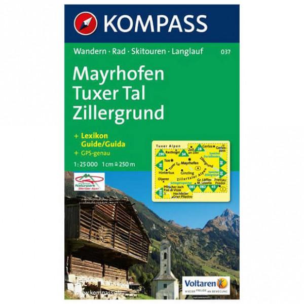 Kompass - Mayrhofen - Vaelluskartat