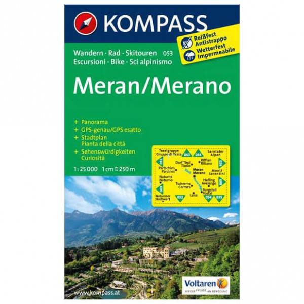 Kompass - Meran /Merano - Cartes de randonnée
