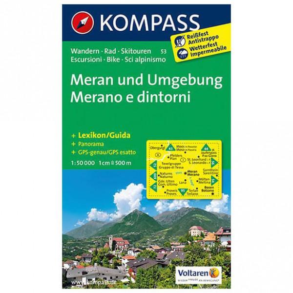 Kompass - Meran und Umgebung /Merano e dintorni - Wandelkaarten