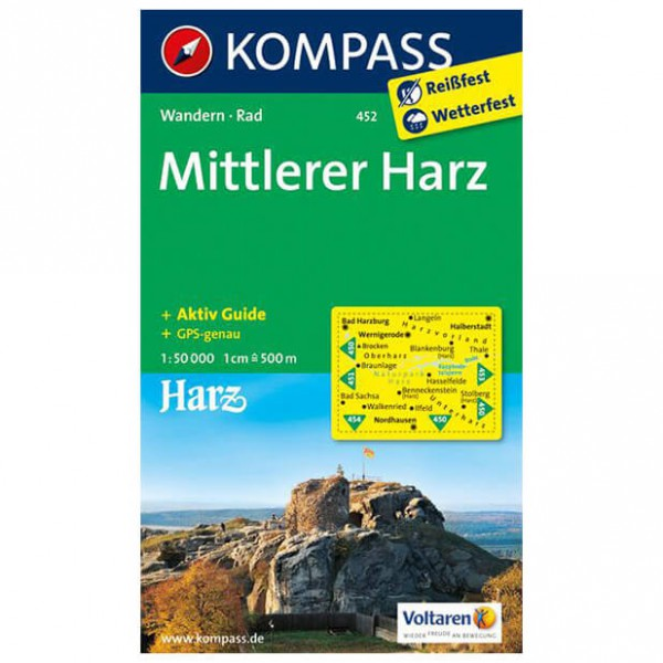 Kompass - Mittlerer Harz - Vandrekort