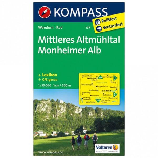 Kompass - Mittleres Altmühltal - Wanderkarte