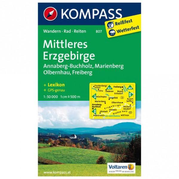 Kompass - Mittleres Erzgebirge - Wanderkarte
