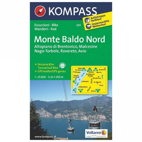 Kompass - Monte Baldo Nord - Vandrekort
