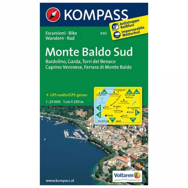 Kompass - Monte Baldo Süd - Vaelluskartat