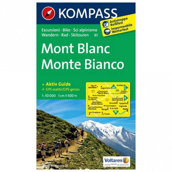 Kompass - Monte Bianco - Cartes de randonnée