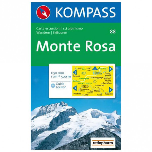 Kompass - Monte Rosa - Vaelluskartat