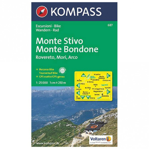 Kompass - Monte Stivo - Hiking Maps