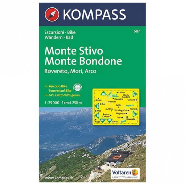 Kompass - Monte Stivo - Vandringskartor