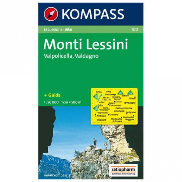 Monti Lessini - Hiking map