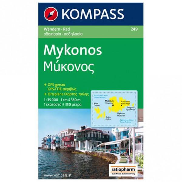 Kompass - Mykonos - Vandrekort