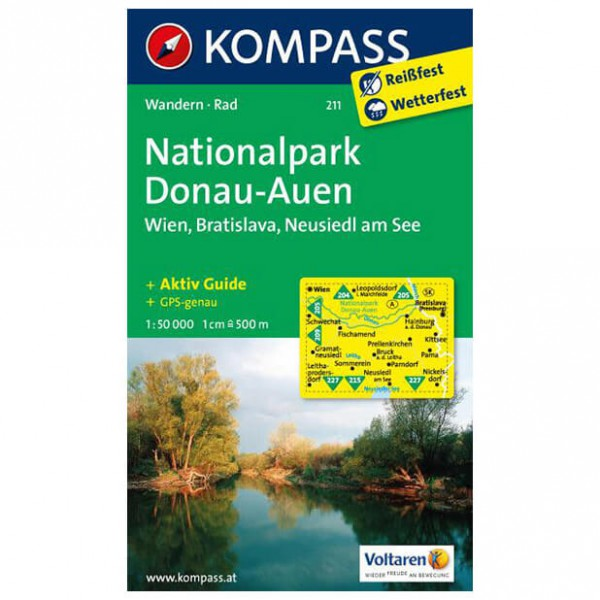 Kompass - Nationalpark Donau-Auen - Hiking Maps