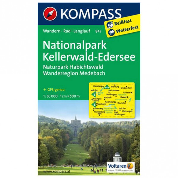 Kompass - Nationalpark Kellerwald - Hiking Maps