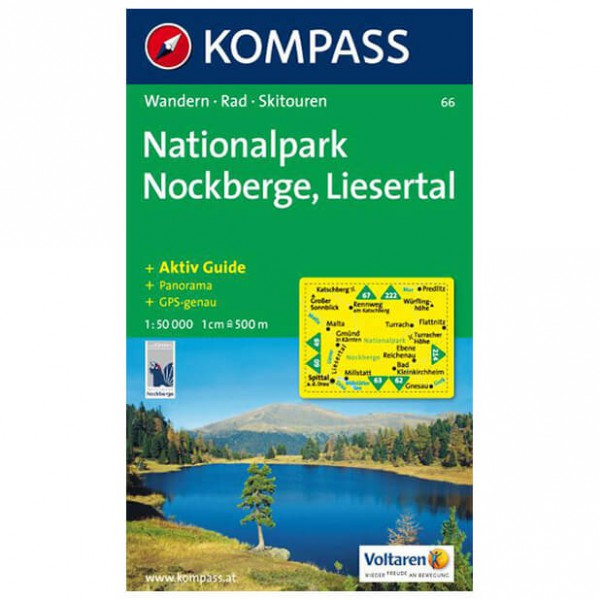 Kompass - Nationalpark Nockberge-Liesertal - Wanderkarte
