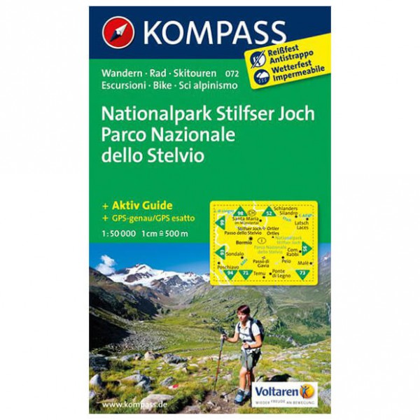 Kompass - Nationalpark Stilfserjoch - Vaelluskartat