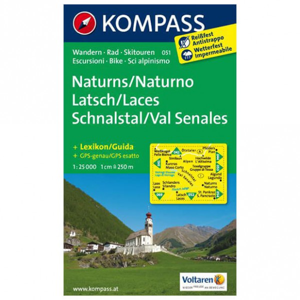 Kompass - Naturns - Wanderkarte