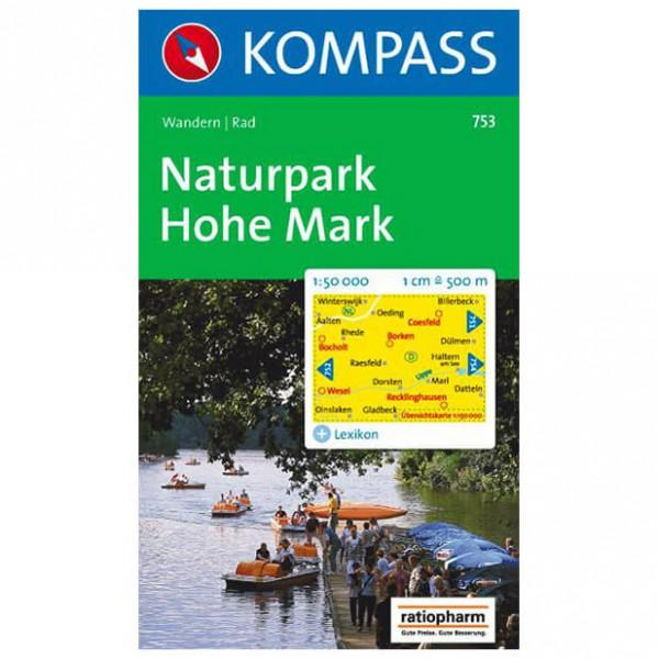 Kompass - Naturpark Hohe Mark - Wandelkaart