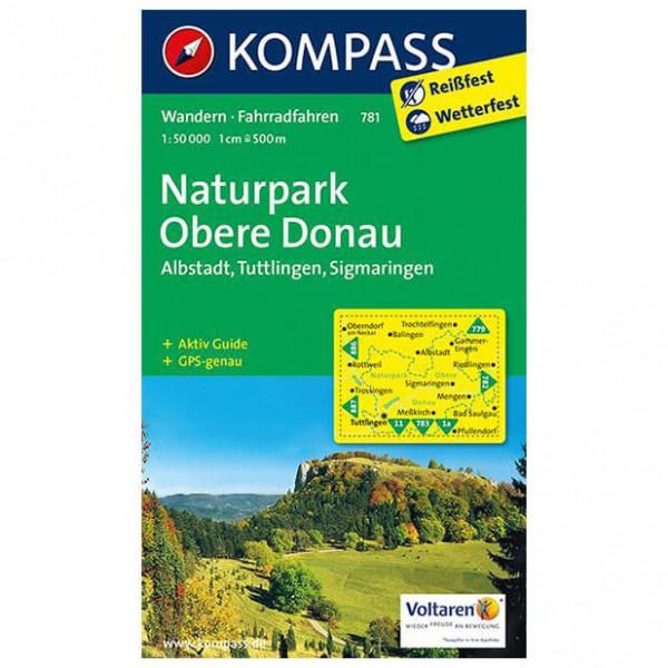 Kompass - Naturpark Obere Donau - Wandelkaart