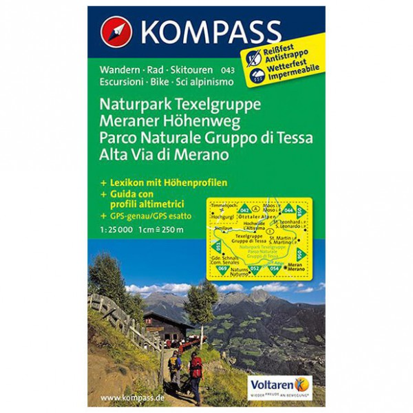 Kompass - Naturpark Texelgruppe - Wanderkarte