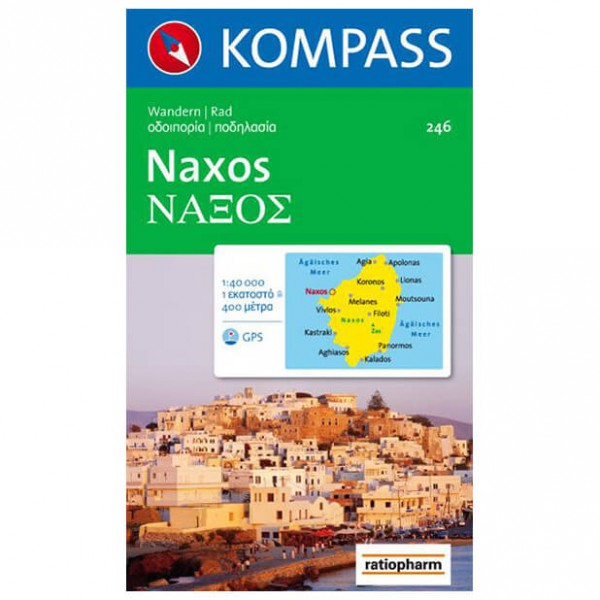 Kompass - Naxos - Cartes de randonnée