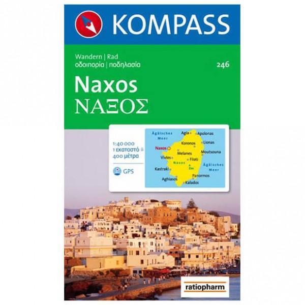 Kompass - Naxos - Vandrekort