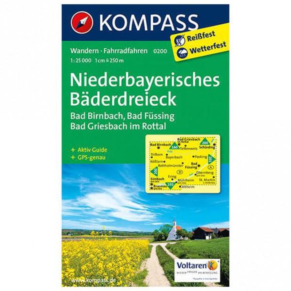 Kompass - Niederbayerisches Bäderdreieck - Vaelluskartat