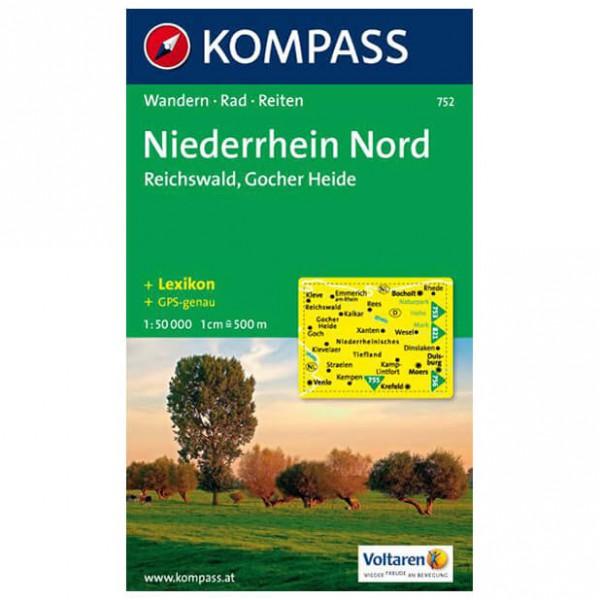 Kompass - Niederrhein Nord - Wandelkaarten