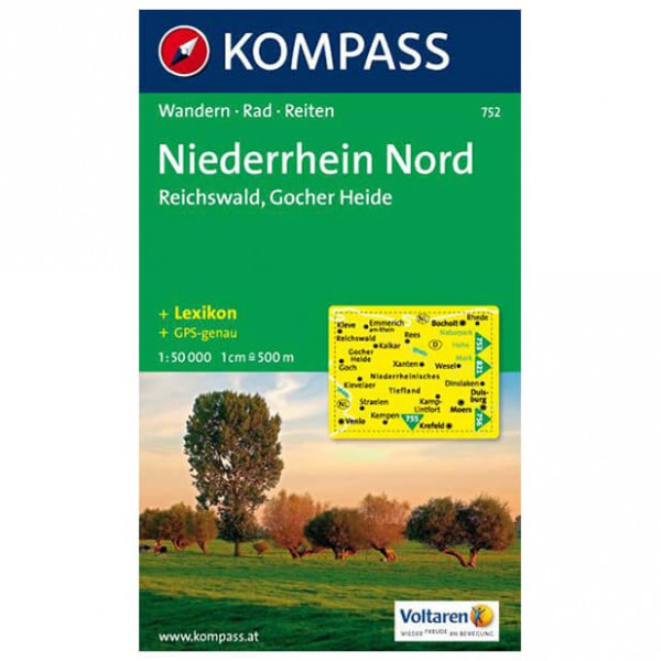 Kompass - Niederrhein Nord - Wanderkarte