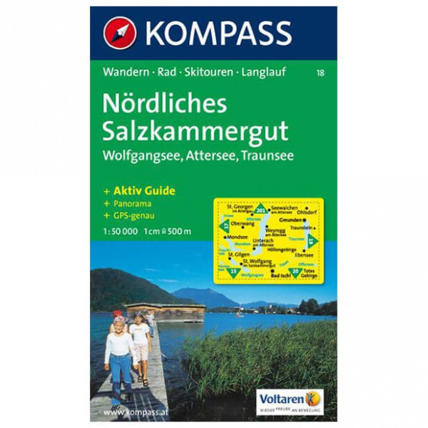 Kompass - Nördliches Salzkammergut - Wanderkarte