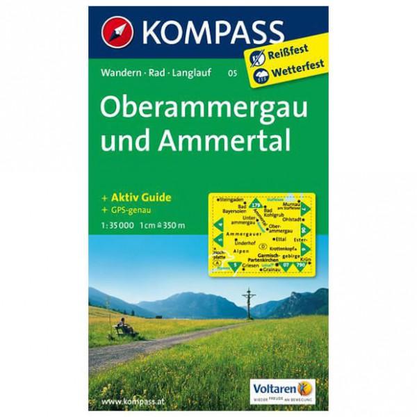 Kompass - Oberammergau und Ammertal - Wanderkarte