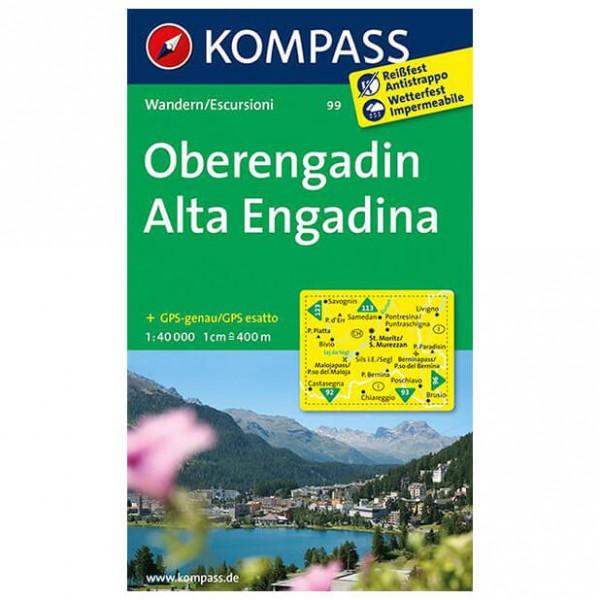 Kompass - Oberengadin - Cartes de randonnée