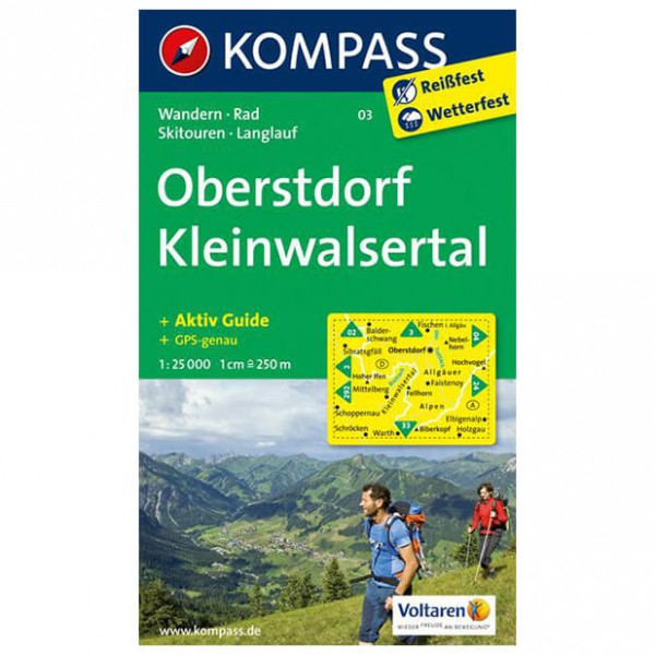 Kompass - Oberstdorf - Carte de randonnée