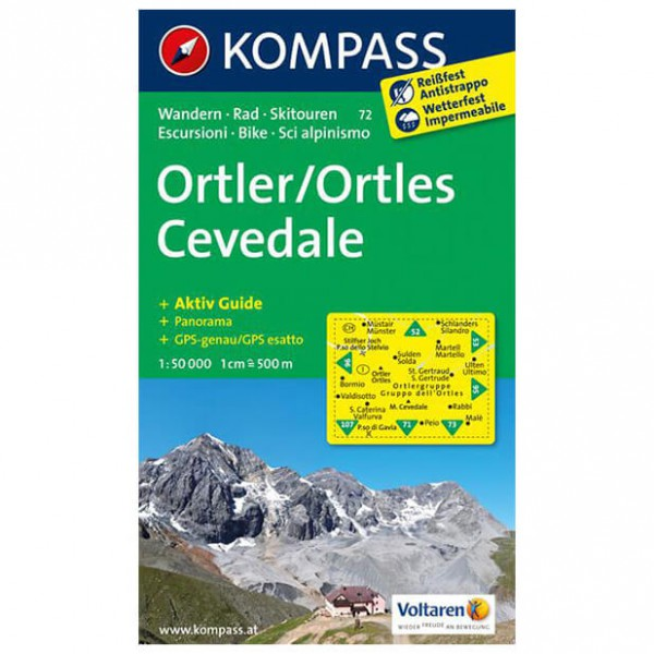 Kompass - Ortler /Ortles - Cartes de randonnée