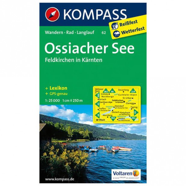 Kompass - Ossiacher See - Wandelkaarten