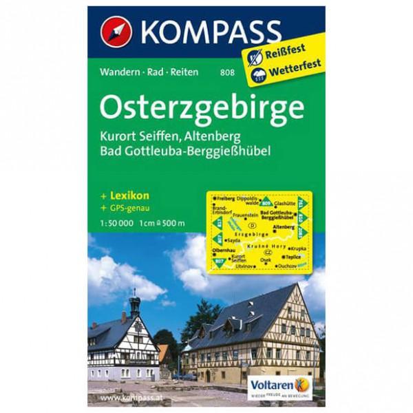 Kompass - Osterzgebirge - Wanderkarte