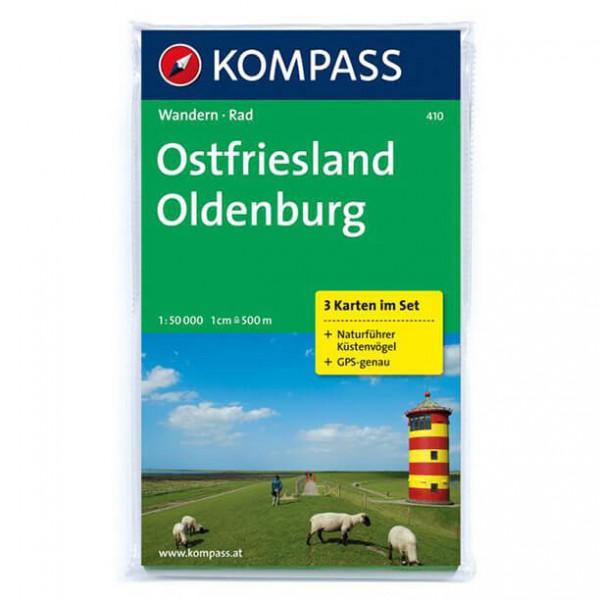 Kompass - Ostfriesland - Wanderkarte