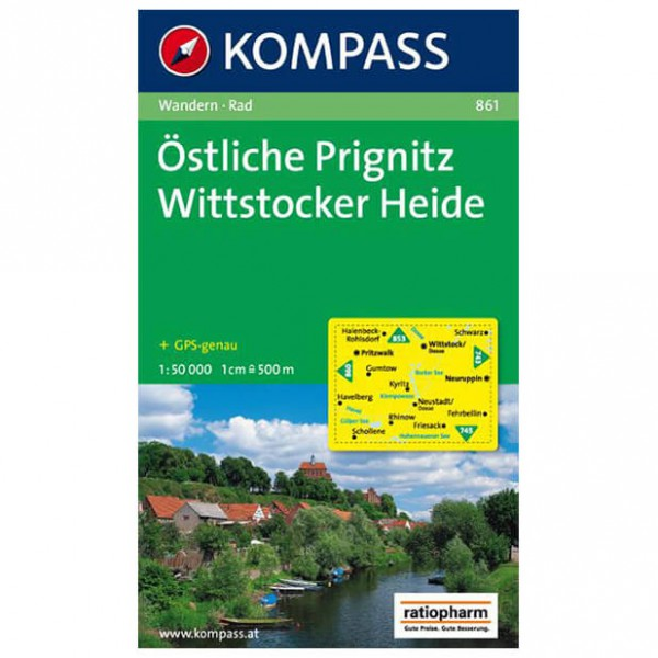 Kompass - Östliche Prignitz - Wandelkaarten